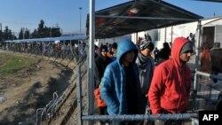 Izbjeglice na grčko-makedonskoj granici, januar 2016.