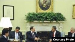 أوباما يستقبل بارزاني في البيت الأبيض