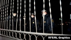 Національна гвардія в масках зустрічає евакуйованих з Китаю українців, Нові Санжари