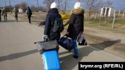 Каланчак, административная граница с Крымом, февраль 2018 года. Иллюстрационное фото