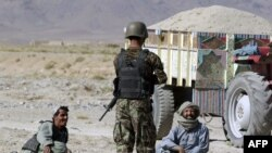 The man was wearing an Afghan army uniform (file photo)