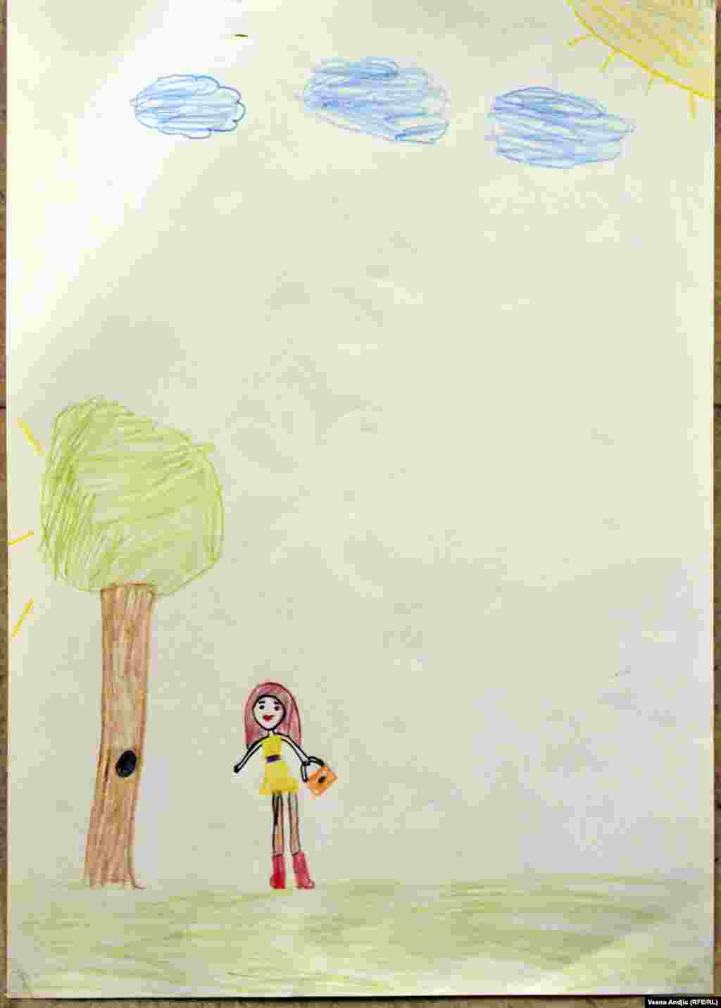 By Aya, 6, from Syria