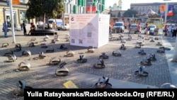 На Європейській площі у Дніпрі активісти встановили 86 капканів