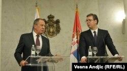 Pres-konferencija Sergeja Lavrova i Aleksandra Vučića, Beograd