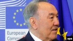 Қазақстан президенті Нұрсұлтан Назарбаев. Брюссель, 30 наурыз 2016 жыл.