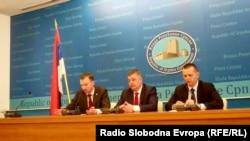 Šefovi policija RS i Moskve u Banjaluci, 5. april 2016.