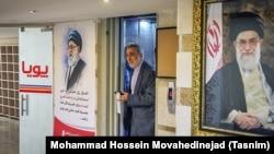Hossein Sheikholeslam during his visit to Tasnim News Agency on July 24, 2016.