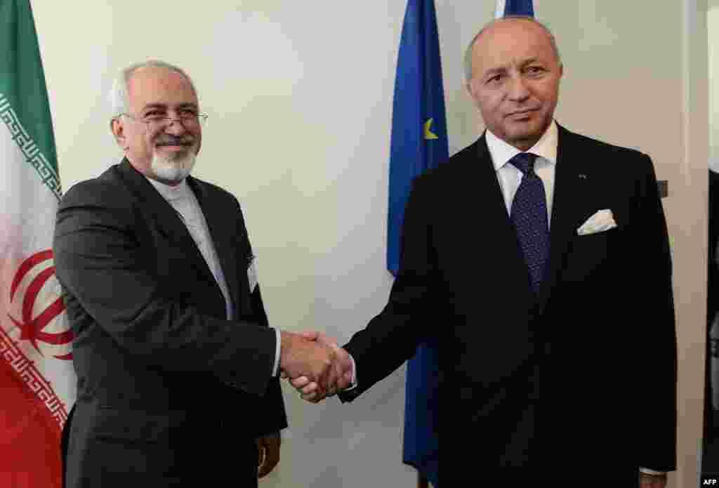 وزرای خارجه ایران و فرانسه