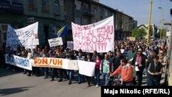 Prvomajski protest u Tuzli