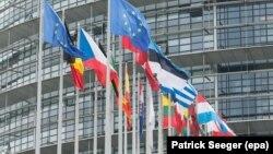 ساختمان پارلمان اروپا در استراسبورگ در فرانسه