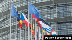 Здание Европейского парламента в Страсбурге (Франция)