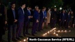 В Махачкале прошла акция памяти жертв массового убийства в Керчи