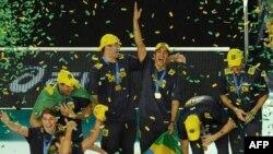 جشن قهرمانی تیم والیبال برزیل