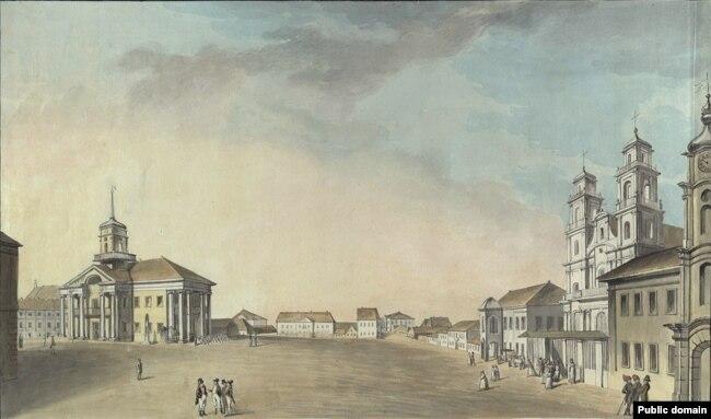 Менск, Высокі рынак, які ў 1812 годзе атрымаў назву Пляц Напалеона