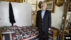 Fethullah Gulen poses during an interview at his residence in Pennsylvania last month.