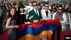 Дания - Делегация Армении прибывает на церемонию открытия «Евровидения - 2014», Копенгаген, 4 мая 2014 г.