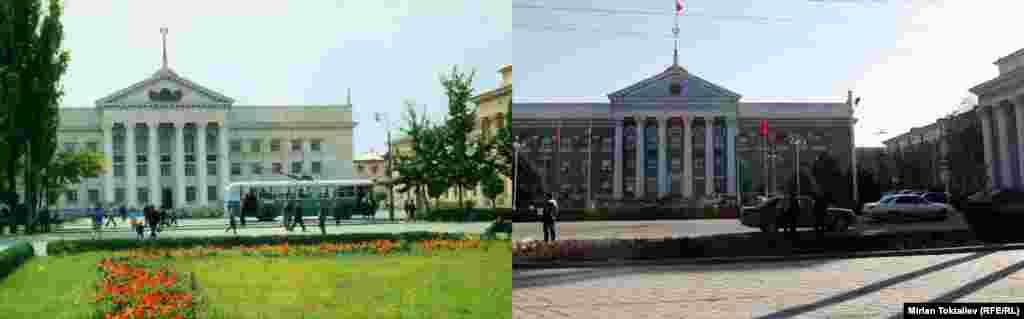 Фрунзе-Бишкек. Шаардык аткаруу комитетинин имараты, азыркы мэрия.