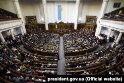 Петр Порошенко выступает в Верховной Раде в феврале 2019 года