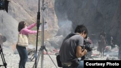 Съемки фильма Курманджан Датка.