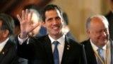 Wenezuelanyň oppozisiýa lideri Juan Guaido Lima toparynyň duşuşygyna gatnaşýar. Arhiw suraty. 25-nji fewral, 2019.
