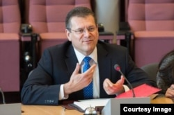 Maros Sefcovic, vice president of the European Commission in charge of energy union