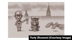 Рисунок Юрия Журавля, посвященный убийству Бориса Немцова
