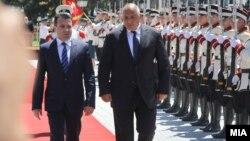 Архивска фотографија: Премиерите на Македонија и на Бугарија, Зоран Заев и Бојко Борисов во Скопје