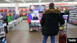 Obraćanje Putina gledalo se i u prodavnicama