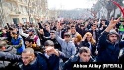 Акция протеста в Баку, 10 марта 2013
