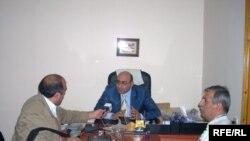 Prezidentliyə namizəd İqbal Ağazadə «Azadlıq» radiosuna müsahibə verir, 30 sentyabr 2008