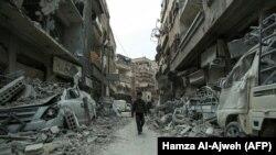 ویرانههای دوما؛ گوشهای از آنچه در جریان سرکوب مخالفان و معارضان توسط ارتش سوریه به جا مانده است