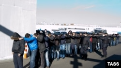 Задержание мигрантов в Бирюлеве