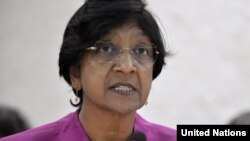 Нави Пиллэй, верховный комиссар ООН по правам человека. Женева, 27 июня 2012 года.