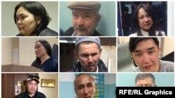 Некоторые из задержанных 1 мая в Алматы и Нур-Султане.