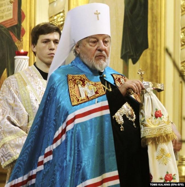 Митрополит Ризький і всієї Латвії Олександр (в миру Олександр Кудряшов). Рига, 8 січня 2018 року года