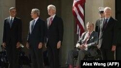 Bivši predsednici SAD: Barak Obama, Džordž Buš mlađi, Bil Klinton, Džordž Buš stariji i Džimi Karter