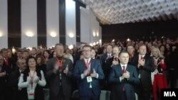 Валандово-16 Конгрес на ВМРО-ДПМНЕ во Валандово. Мане Јаковлески, Христијан Мицкоски, Никола Груевски, Емил Димитриев