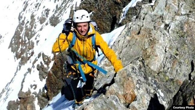 Arineta Mula gjatë ngjitjes në Malin Eiger