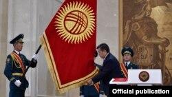 Қырғызстанның жаңадан сайланған президенті Сооронбай Жээнбеков ант беру рәсімі кезінде. Бішкек. 24 қараша, 2017 жыл.