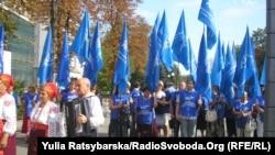 Акція на підтримку закону «Про засади державної мовної політики» в Куяльнику на Одещині, 16 серпня 2012 року