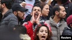 Тунис, демонстрации протеста, 9 января 2018