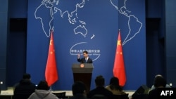 File Photo: Chinese Foreign Ministry spokesman Geng Shuang speaks during the daily press briefing in Beijing on March 18, 2020