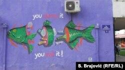 Grafit u Podgorici - što bacaš, to jedeš