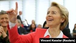 Ֆրանսիա - Ուրսուլա ֆոն դեր Լայենը Եվրախորհրդարանում, Ստրասբուրգ, 27-ը նոյեմբերի, 2019թ․