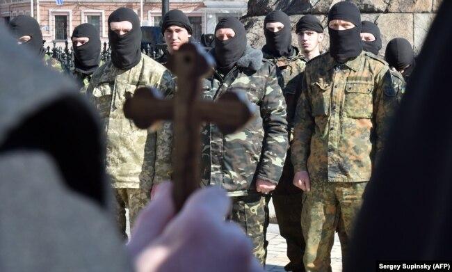 """Украинский добровольческий батальон """"Донбасс"""", 2015 год, Киев"""