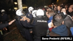 Neredi u Podgorici, oktobar 2016.