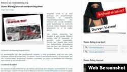 Faqja zyrtare e Vlams Belang