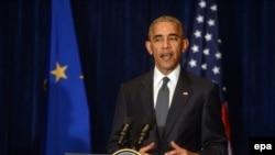 Президент США Барак Обама. Варшава, 8 июля 2016 года.