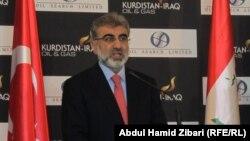 وزير الطاقة التركي تنر يلدز يتحدث في مؤتمر حول النفط والغاز في أربيل
