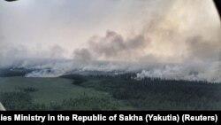 Лісова пожежа в Якутії, Росія, липень 2019 року